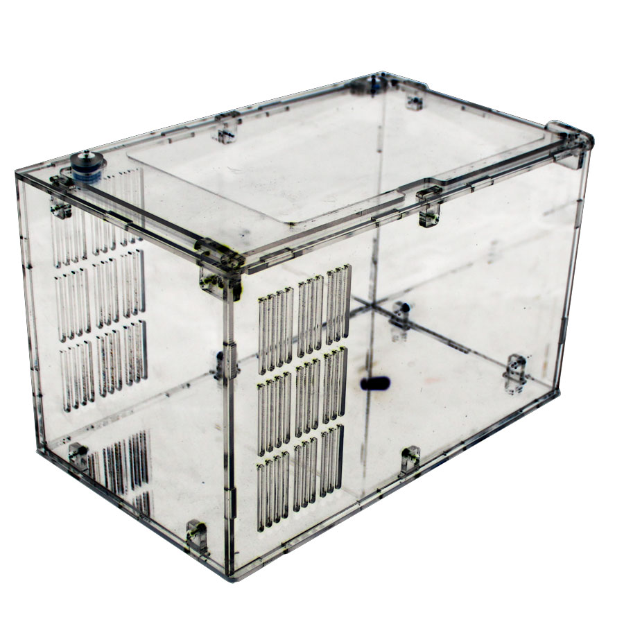 Acrylic reptile tank Transparent acrylic crawler feed box Tortoise beetle horned frog spiders snakes miao scorpion T buckle Small size