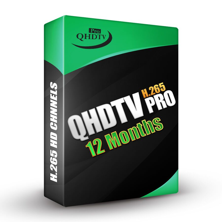 QHDTV PRO with more than 120+ H265 Channel Arabic IPTV French IPTV 5000+ VOD 1 year